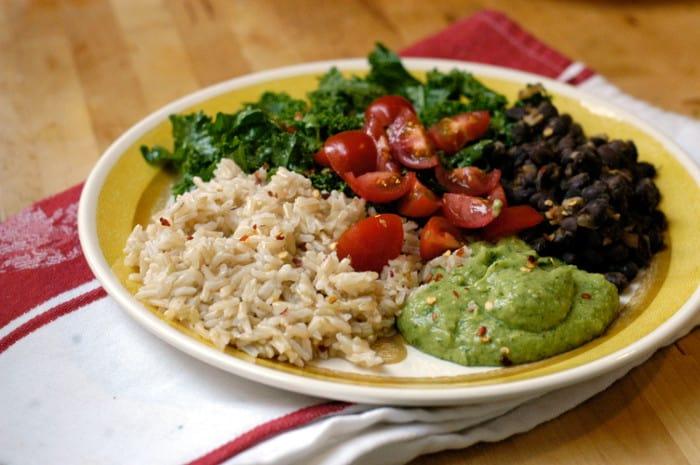 Black Bean, Kale, and Avocado Burrito Bowl